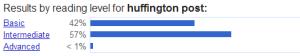 huffington post - Reading Level